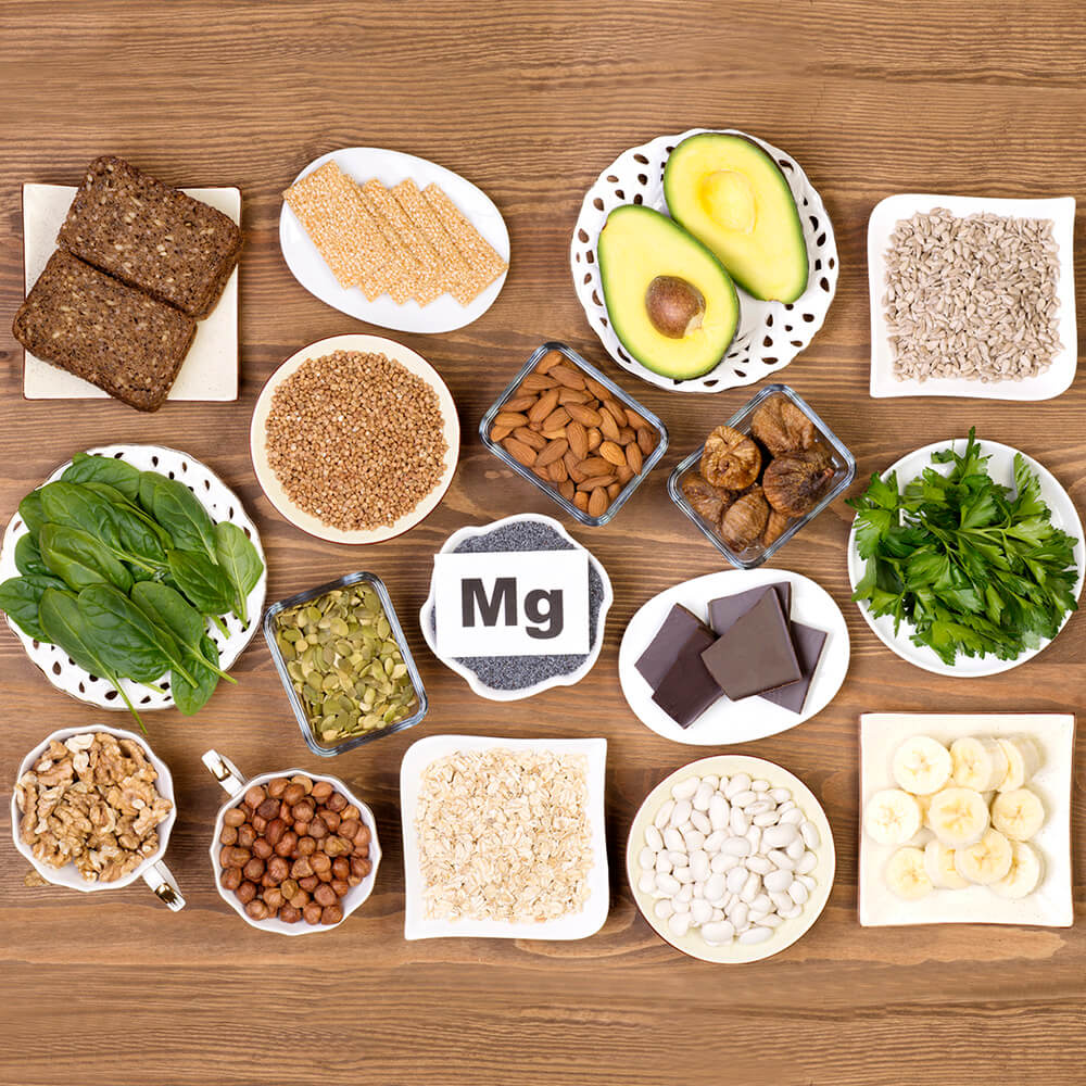 Food containing magnesium